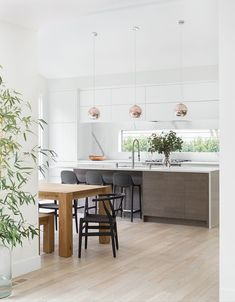 Take a peek at a stunning modern Scandinavian remodel boasting clean lines and streamlined design.