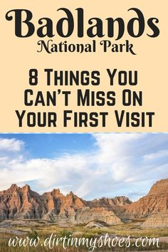 Badlands National Park is one of the most beautiful places in South Dakota, and should be on everybody's bucket lists! Planning an itinerary for your family vacation can be a challenge though, that's South Dakota Vacation, South Dakota Travel, Bad Lands South Dakota, Rapid City South Dakota, North Dakota, Badlands National Park, Us National Parks, Arches National Park Hikes, Cool Places To Visit