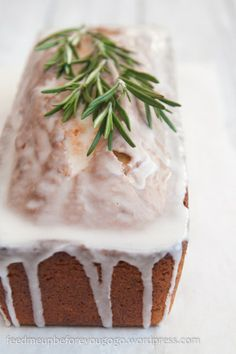 Rosemary vanilla cake // feed me up before you go-go