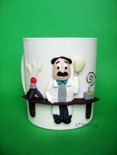 Nikola Tesla made out of polymer clay