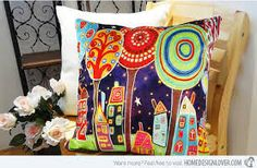 abstract design cushions