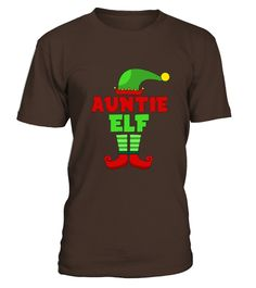 Auntie Elf T Shirt - Funny Holiday Christmas Gift Tee