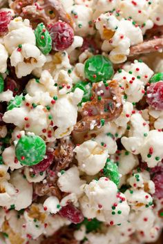 Christmas Crunch {Funfetti Popcorn Christmas Style} - Cooking Classy
