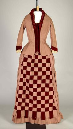 Afternoon dress, silk, 1883-85, American.