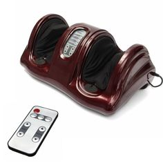 110V Foot Acupoint Massager Physical Therapy Relaxing Calf Legs Shiatsu Kneading Remote Control