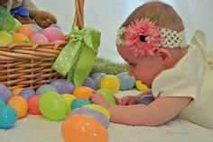 Easter photo idea for baby