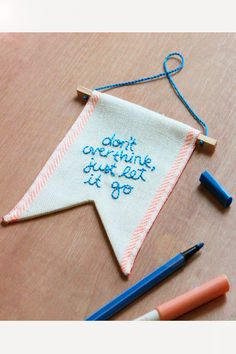 Don't overthink just let it go| bannerwall hanging | flag | pennant | banner