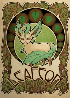 Various Pokemon characters and pets in Art Nouveau style, by various artists. Special thanks to Astropunch.