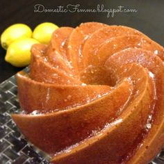 Lemon Bundt Cake with Citrus Glaze