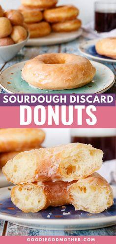 Sourdough Doughnut Recipe, Sourdough Starter Discard Recipe, Sourdough Recipes, Sourdough Bread, Homemade Donuts, Sweet Recipes, Baking Recipes, Breakfast Recipes, Favorite Recipes