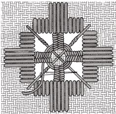 Pinwheel (filling stitch) (for Hardanger) – Save the Stitches by Nordic Needle Hardanger Embroidery, Learn Embroidery, Embroidery Needles, Beaded Embroidery, Cross Stitch Embroidery, Paper Embroidery, Embroidery Stitches Tutorial, Embroidery Techniques, Embroidery Patterns