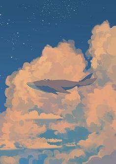 143번째 이미지 Blue Whale Drawing, Whale Art, Whale Illustration, Ocean Wallpaper, Relaxing Art, Aesthetic Wallpapers, Art Background, Anime Artwork, Artwork Design
