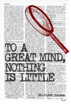 Wall art smart Quote Print Sherlock holmes fan Wall by PRRINT