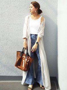 おはようございます カシュクールワンピ着まわし中✨ verdinoさんのバッグ。 軽くて大容量な