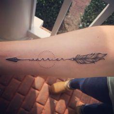 New warrior tattoo by amazing Atlanta artist! #tattoo #warrior #yogatattoo