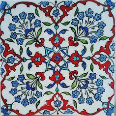 Islamic Patterns, Tile Patterns, Pattern Art, Turkish Design, Turkish Art, Islamic Tiles, Islamic Art, Indian Flowers, Persian Pattern