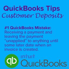 Here is a great QuickBooks Tip for Customer Deposits. Avoid this costly QuickBooks AR Mistake!