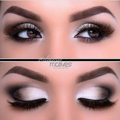 white brown makeup