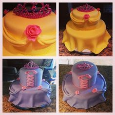 Disney Princess Dress Cakes - Pink Sugar Cupcakes
