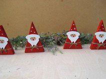 4 Stück Wichtelgeschenk Weihnachtsmann / Nikolaus