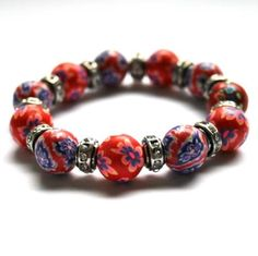 Rødt armbånd med blomster. Pandora Charms, Charmed, Bracelets, Jewelry, Fashion, Metal, Moda, Jewlery, Jewerly