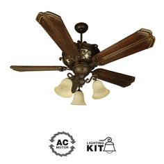 View the Craftmade Toscana Toscana 5 Blade Indoor Ceiling Fan with Integrated Lighted Body - Blades and Light Kit Sold Separately at LightingDirect.com.