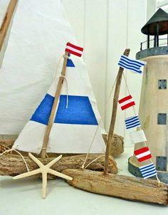 Para que veas lo que da de si un trozo de madera. Estos barcos están hechos con trozos de madera que se encuentra...