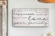 """Christmas Gift Idea :. Love Your Family Saying :. Mother Teresa Quote :. Shabby Chic Sign:. Farmhouse sign:. Farmhouse decor:. Christmas Gift :. Reproduction sign by My Vintage Farmhouse. 3 sizes available 12"""" x 24"""", 15"""" x 30"""", 18"""" x 36"""" 15"""" x 30"""" shown SHABBY CHIC HANDMADE FARMHOUSE SIGN Each piece is made to order and handmade by husband and wife team Ali and Randy Schaffner. Our signs are hand crafted from USA made A1 Grade 7 Ply maple plywood, which has a beautiful grain, knots and..."""