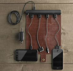 25 One-Of-A-Kind Gift Ideas For People Who Love Traveling - A portable roll up travel charger that keeps your multiple chargers for various devices organized.