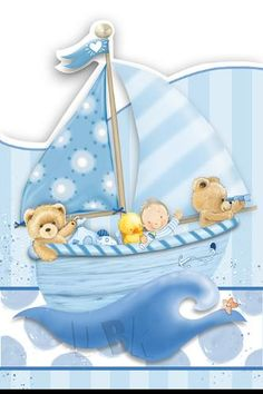 Teddy Bears In Boat