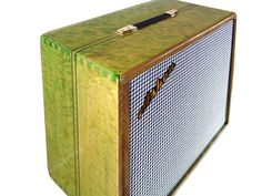 "Ashen ""Emerald"" 210 Custom Guitar Cabinet Emerald Birdseye Maple"
