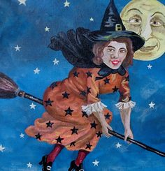 Midnight Witch Painting   by TheHalloweenSisters
