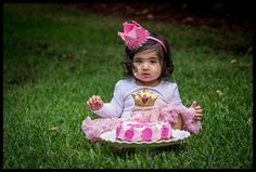 First birthday, cake smash portrait session with Curly Girl Photography