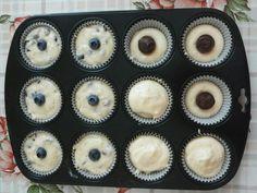 Muffins con mirtilli e Muffins con cuore di Nutella
