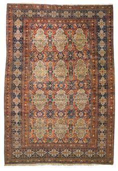 'Mohtashem' Kashan carpet, Central Persia approximately by by circa 1900 Persian Carpet, Persian Rug, Blue Art, Carpet Runner, Impressionist, Rugs On Carpet, Kilim Rugs, Art Decor, Modern Art