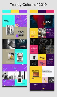 Trendy Colors of 2019 - Bright colors, stark palettes, and even some mismatching schemes are elements of color that are trending. Nicepage's mission is to give users the free. Custom Web Design, Creative Web Design, Logo Design, Web Design Company, Branding Design, Web Design Color, Simple Web Design, Creative Labs, Best Web Design