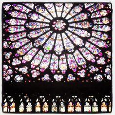 Notre Dame de Paris   Stained Glass Window