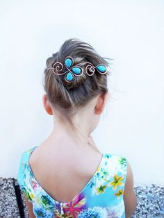 Hey, I found this really awesome Etsy listing at https://www.etsy.com/listing/241574305/hair-clip-hair-pin-copper-hair-slide-bun