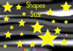 This digital flashcard can be used to teach four preschool concepts. First, shapes: star; second, colour: yellow; third, preschool mathematical concept: big/small; fourth, count: 1-20. Find the smallest and biggest star. Put some colour and excitement into teaching. This activity forms part of the Abstract Curriculum (coming soon!).