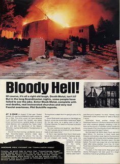 Black metal Norwegian church burnings