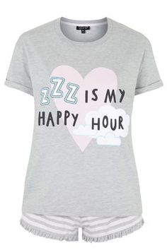ZZZ is My Happy Hour Pajama Set