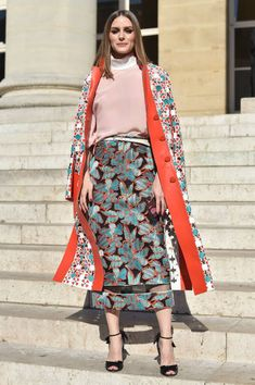 Olivia Palermo attends Fendi Couture during Paris Fashion Week Haute Couture Fall Winter 2018/2019 on July 4 2018 in Paris France