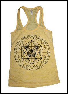 Women's Metatron's Cube Butterfly Tank Top Sacred Geometry Dotwork Linework Meta-morph-atron on Etsy, $20.00