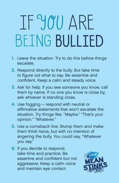 Help if you are being bullied