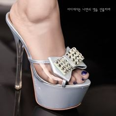 T26937 Kvoll fashion rhinestone bowknot high-heeled slipper blue [T26937] - $22.50 : China,Korean,Japan Fashion clothing wholesale and Dropship online-Be the most beautiful Lady