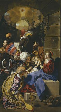 """PINTURA ::: Pigmentos - """"La Adoración de los Magos"""", 1613 - JUAN BAUTISTA MAÍNO - Óleo sobre lienzo - Colores: Ultramar, Bermellón, Amarillo Indio, Albayalde..."""