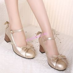 Womens Lolita Mid Cuban Heels Dress Pumps Ankle Strap Bucklemary Janes Shoes Hot
