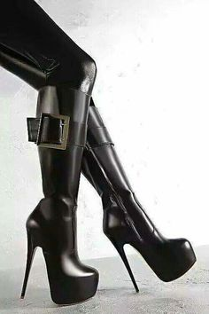 High Heels Boots, Black High Boots, High Leather Boots, Sexy Boots, Thigh High Boots, High Heel Pumps, Pumps Heels, Heeled Boots, Ankle Boots