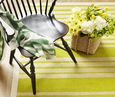 This is a quick way to revive an old sisal rug and add colour underfoot. A variegated stripe is stylish and simple to do. (Watch the video as Michael Penney demonstrates how to make this painted rug a