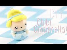 Kawaii Cinderella Chibi polymer clay charm tutorial
